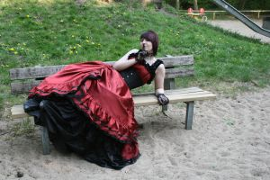 Black-red dress normal hair 13 by Sayashi-Stock