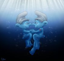diving together by Shini-Smurf