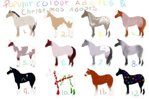 christmas adopts, draw or 5 points ! by sandy444