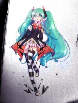 Halloween Miku 2014 by Black-Bamboo