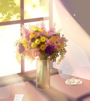 Flowers by the window by longestdistance