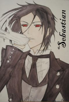 Black Butler- Sebastian by 4ever-artist