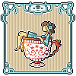 Animated Icon -- Angel in a Cup by Hardrockangel
