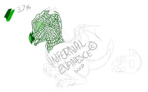 .:WIP:. Baby Dragon Green by InfernalEvanesce