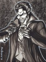 JOKER INK WASH COMMISSION by AHochrein2010