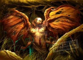 PHILIPPINE MYTHICAL CREATURES MANANANGGAL COLORED by BASSDATOY