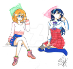 Two Girls by RoRuy