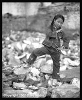 Girl near Monastery, Tibet by DaveR99