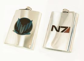 N7-SPECTRE flask by Katlinegrey