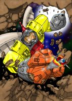 Omega Supreme Vs Starscream by Mr-Alexander