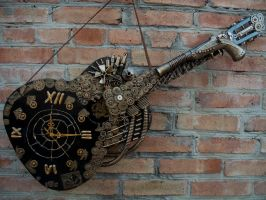 Clock guitar steampunk by Artcreativehands