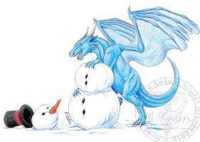 Defeat the Snow Man by LupaSola