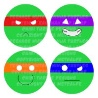 TMNT Buttons by jagris