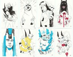 Original sketch cards for sale! by HJeojeo