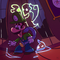 Luigis Mansion by wafflz