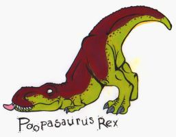 Poopasaurus Rex by Avalanche-Design