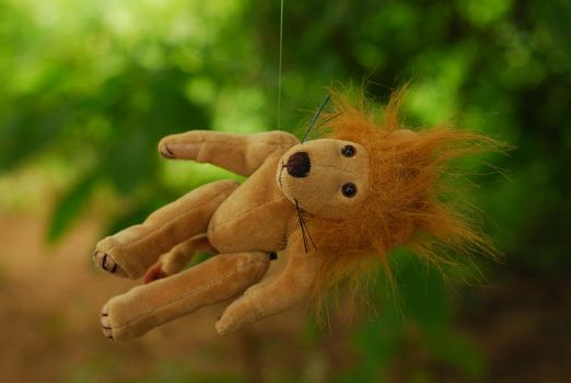 why is this lion hanging in a by objekt-stock