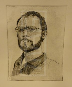 Self portrait, state proof by MAGPrintmaker