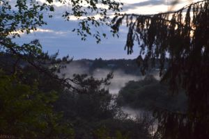 Fog on the river Darkness by focus1980