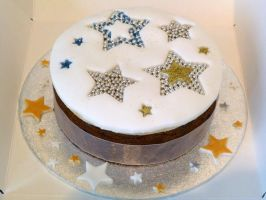 Christmas Stars Cake by Rebeckington