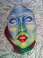 my face: colored pencil by mikamoo2u2