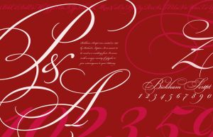 Bickham Script Poster by whitelightwings