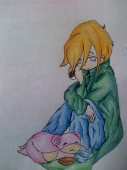 A boy and his Slowpoke by VulpixVyxie