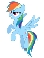Flying Rainbow Dash vector. by MasterRottweiler