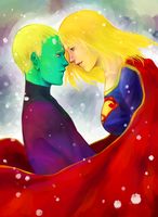 Request: Brainiac5 x Supergirl by A-nyu-sama
