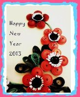 Happy New Year Quiling Card by Rajlakshmi