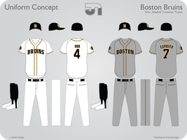 Boston Bruins Baseball by JimmyNutini