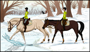Winter Trail Ride by Mendokusee