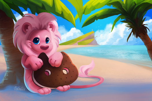 Lion on the Beach by TsaoShin