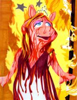 Ms. Piggy as Carrie by theCreativeRoy