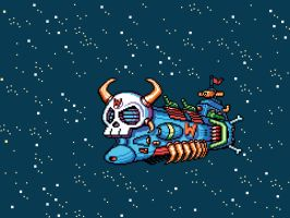 Wily Space Battleship by abonny