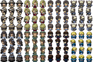 RPG Maker VX - Various Characters (2) by Amysaurus121