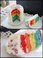 Rainbow Cake by littlemewhatever
