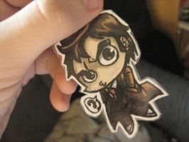 Dr. Who Chibi Keychain by ScarecrowArtist