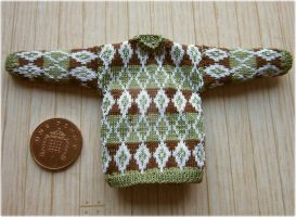 1:12th scale Mans diamond jumper by buttercupminiatures