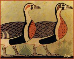 Nile Geese by snowsowhite