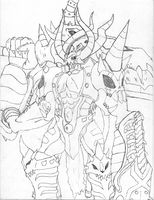 Titamon Drawing by Omnimon1996