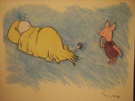Moomin and Piglet by noituli