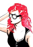 I have glasses and oh red hair by HPMATT