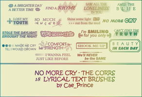 No more cry - The Corrs by artsy-cae