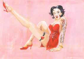 Betty Boop pin-up by tuomaskoivurinne