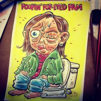 Poopin' Pop-Eyed Pam by thegreck