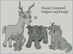 Moony, Wormtail, Padfoot and Prongs by GoldenPhoenix75