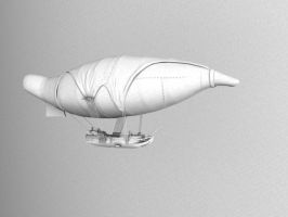 Steampunk Airship by Meloncov