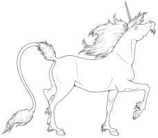 Unicorn LineArt by ReQuay