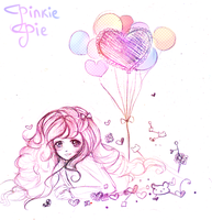 Pinkie Pie and Balloons by mochatchi